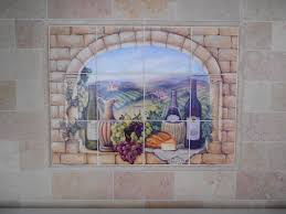 Kitchen Tile Backsplash Murals by Decorative Tile Backsplash Kitchen Tile Ideas Tuscan Wine