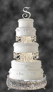 cake pillars swarovski and rhinestone chandelier wedding cake tier