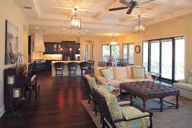 great room layout living mediterranean with wood flooring white