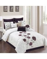 Plum Bed Set Get The Deal Abigail 10 Comforter Set In Plum Grey
