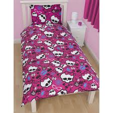 Monster High Room Decor Ideas Sweet Pink Skull Monster High Bed In A Bag With White Bedroom