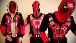 unbox xcoser deadpool hoodie ft spidey video for xcoser