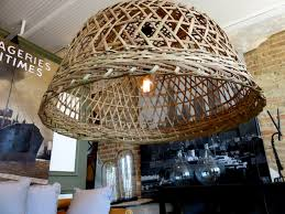 Wicker Light Fixture by Wicker Basket Chandelier Hudson Goods Blog