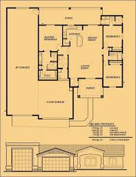 search house plans 2628 rambler plan with an attached rv garage exteriors by gnw
