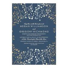 navy wedding invitations navy and gold wedding invitations announcements zazzle
