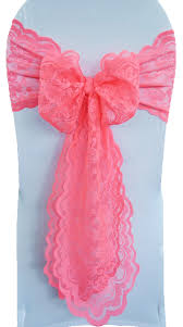 chair sashes for sale coral lace wedding chair sashes wholesale