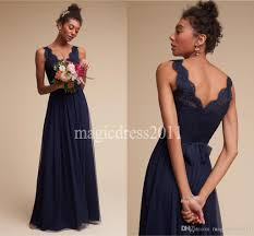 navy blue lace bridesmaid dress 2016 modest navy blue lace bridesmaid dresses floor length a line
