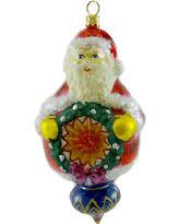deal alert polonaise ornament santa with church glass