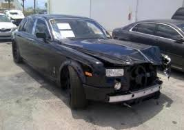 totaled for sale export salvage rolls royce ghost s