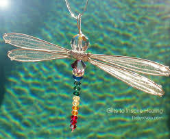 unique dragonfly gifts chakra dragonfly sun catcher with silver wings inspirational
