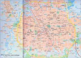 China On A Map China Zhengzhou Map Tourist Attractions Hotels