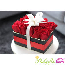 roses in a box philgifts in a box
