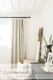 Design Your Own Curtains Diy Custom Lined Curtains It U0027s Easier Than You Think Making
