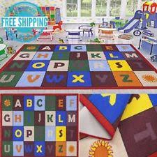 planets area rug kids room abc alphabet educational play learning