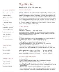 Teacher Job Resume Sample by Teacher Resume Sample 28 Free Word Pdf Documents Download