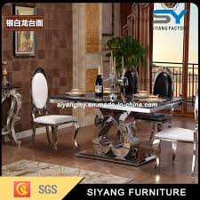 gold dining table set china kitchen furniture dining room set marble table gold dining