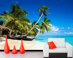 online buy wholesale 3d beach wallpaper from china 3d beach papel de parede sky and sea coconut beach scenery 3d nature wallpaper living room tv