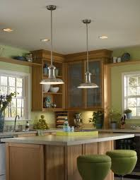 innovative mini pendant lights over kitchen island in house