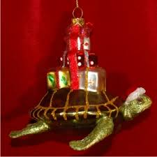 sea turtle glass personalized ornaments by