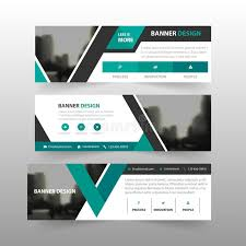 layout banner template green black triangle corporate business banner template horizontal