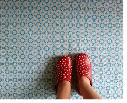 des vents blue vinyl floor tiles by zazous