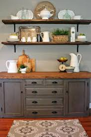 decorating shelves in a farmhouse kitchen shelving shelves and
