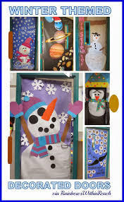 Door Decorations For Winter - winter themed decorated classroom doors decorated doors