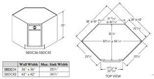 36 corner sink base cabinet corner end aristokraft