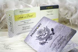 cruise wedding invitations passport wedding invitation boarding pass destination wedding