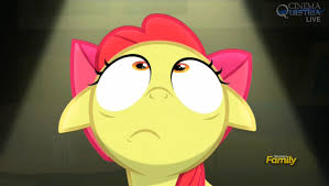 Looking Up Meme - apple bloom looking up my little pony friendship is magic know