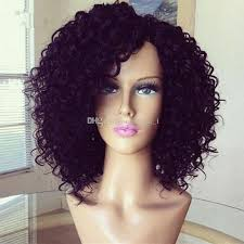 short curly bob wig hot sale glueless full lace short kinky curly wig for black women