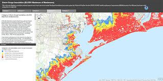 houston map flood noaa releases interactive surge map houston media