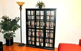 Cd Storage Cabinet With Glass Doors Cd Cabinet With Doors Allegro Cd Dvd Vhs Storage Cabinet With