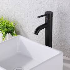 faucet bathroom sink brass single hole single handle lavatory