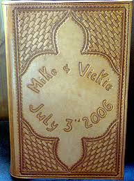 western photo album personalized leather memory book western wedding photo album