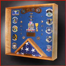 3x5 Flag Display Case With Certificate 24x24 Shadow Box With 3x5 Bottom Center Flag Frame