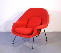 chair red womb chair
