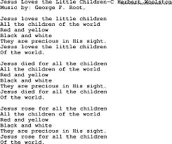 christian childrens song jesus the children c