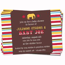 circus themed baby shower invitations iidaemilia com