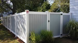 Two Tone Gray Walls by Gray And White Two Tone 6 U2032 U2013 Connecticut Fence Works