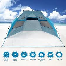 Baby Beach Tent Walmart Odoland Beach Tent Pop Up Sun Shelter Upf 50 Sun Protection
