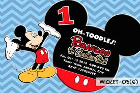 mickey mouse printable invitation for mickey mouse birthday