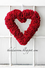 Ideas For Homemade Valentine Decorations by 20 Handmade Valentines Heart Wreath Wreaths And Valentine Heart