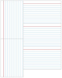 notecard template template