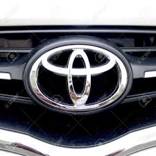 toyota stock symbol toyota sign in silver on car stock photo picture and royalty free