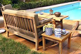 marvelous wood patio set with round wooden patio table