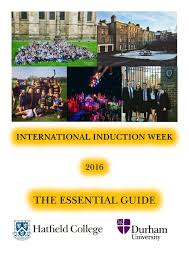 hatfield college international induction week booklet 2016 by