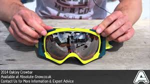 oakley motocross goggles 2013 2014 oakley crowbar goggles video review youtube