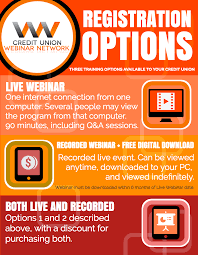 Seminar And Webinar Schedule Recorded Credit Union Webinars Online Cu Training