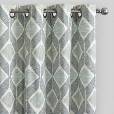 Silver And Blue Curtains Indigo Blue Cotton Morris Curtains Set Of 2 World Market